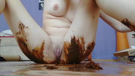 DianaSpark - Dirty BlowJob – Dirty fuck [Scatting / 1.82 GB] HD 720p (Damage, Solo Scat)