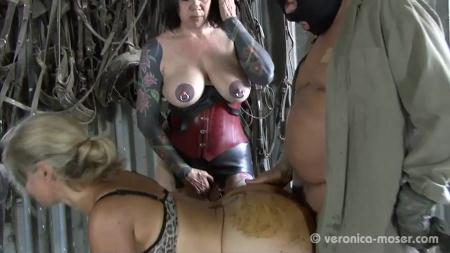 Veronika, Molly - Slut Farm [Domination Scat / 345 MB] SD (Poopping, Femdom Scat)