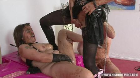 Regina Bella, Gina, 1 Male - SCAT SUBMISSION [Hightide-Video / 1.03 GB] HD 720p (Scat, Group Sex)