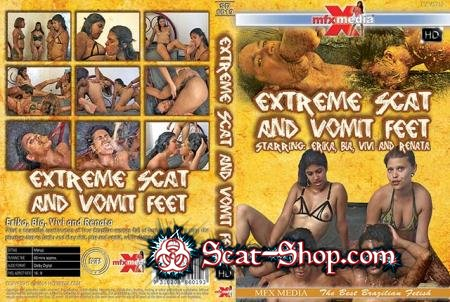 Erika, Bia, Vivi, Renata - [SD-6019] Extreme Scat and Vomit Feet [MFX Media / 1.29 GB] HDRip (Vomit, Lesbian)