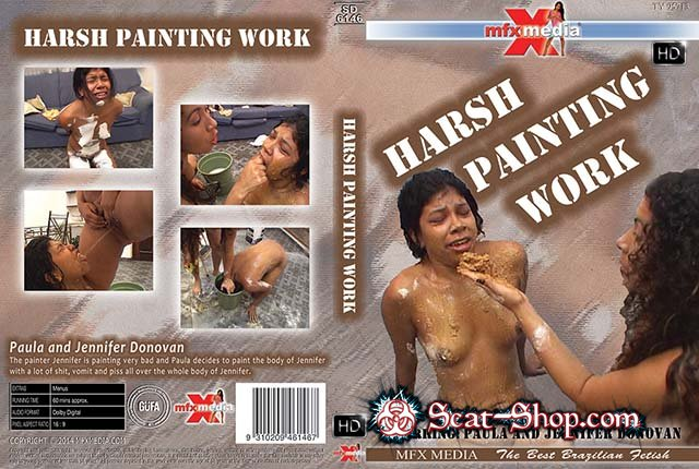 Paula, Jennifer Donovan - MFX-6146 Harsh Painting Work [MFX Media / 1.37 GB] HDRip (Lesbian, Vomit)