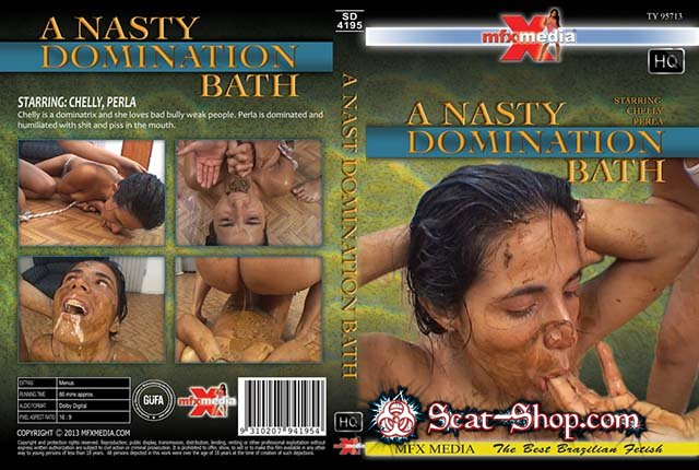 Chelly, Perl - [SD-4195] A Nasty Domination Bath [MFX Media / 1.33 GB] HDRip (Scat, Piss, Lesbian)