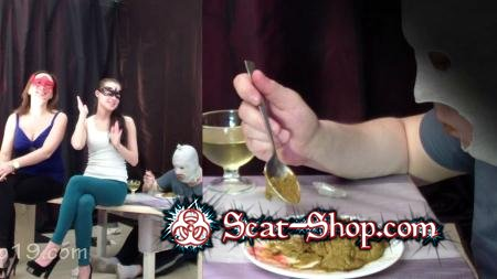 Smelly Milana - 2 mistresses cooked a delicious shit breakfast for a slave [Group Scat / 1.19 GB] FullHD 1080p (Toilet Slavery, Femdom)