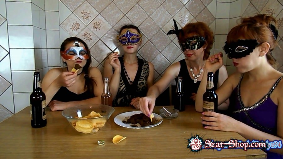 ModelNatalya94 - The morning Breakfast the four girls [Threesome Scat / 1.19 GB] FullHD 1080p (Amateur, Milf)