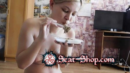 KatyaKASS - Breakfast of my poop [Teen Scat / 812 MB] FullHD 1080p (Amateur, Solo)
