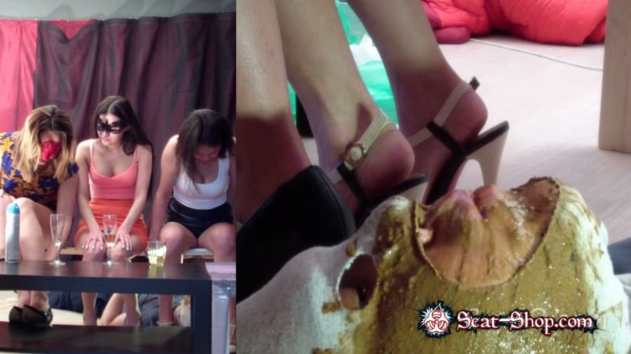 MilanaSmelly - Group use of female toilet slave [Femdom Scat / 1.36 GB] HD 720p (Humiliation, Face Sitting)