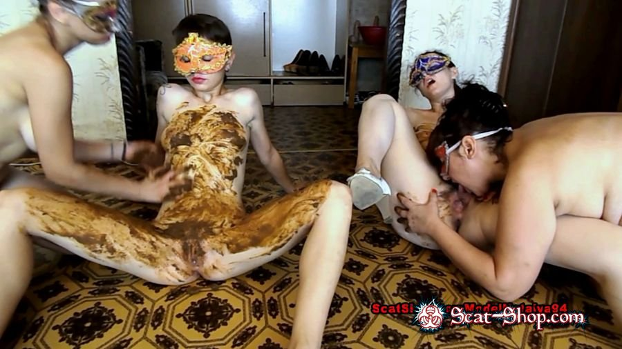 ModelNatalya94 - Dirty lesbian show from three girls [Group Defecation / 1.40 GB] FullHD 1080p (Scatology, Group)