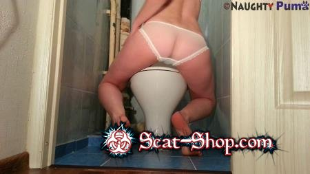 NaughtyPuma - Best way to use the Toilet [Poop Videos / 516 MB] FullHD 1080p (Panty Scat, Solo)