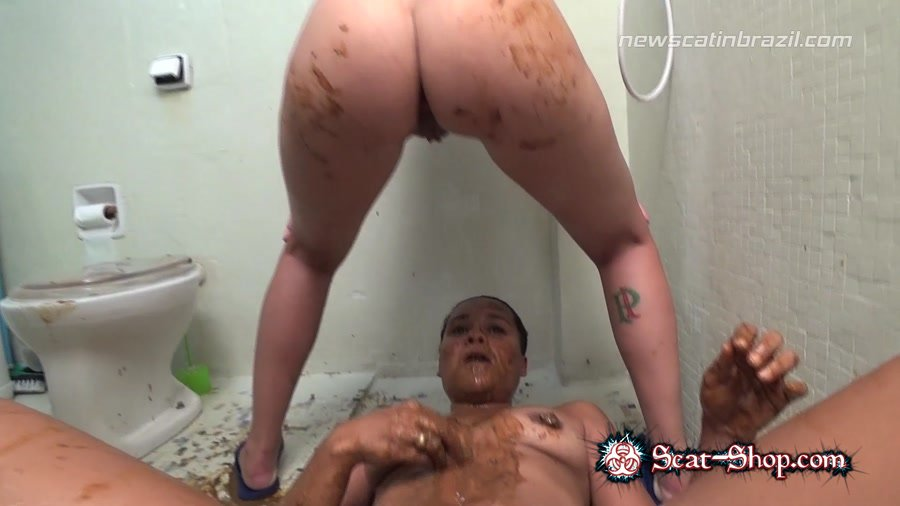 Lisa Black, Mel, Carolynne - Girls to shit in it [NewScatInBrazil.com / 1.83 GB] FullHD 1080p (Domination, Vomit, Eat shit)