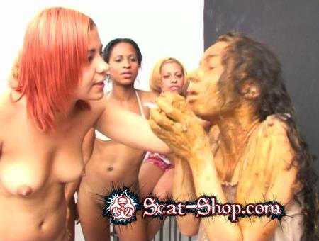 ShitGirls - Forced to swallow scat 7 [SG Video / 1.75 GB] SD (Lesbians, Group)