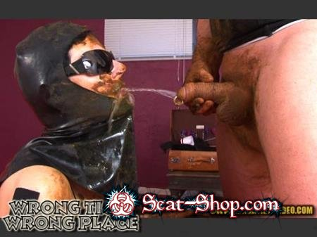 Lady Caca, 1 male - WRONG TIME, WRONG PLACE [Hightide Scat / 1.01 GB] SD (Latex, Humiliation)