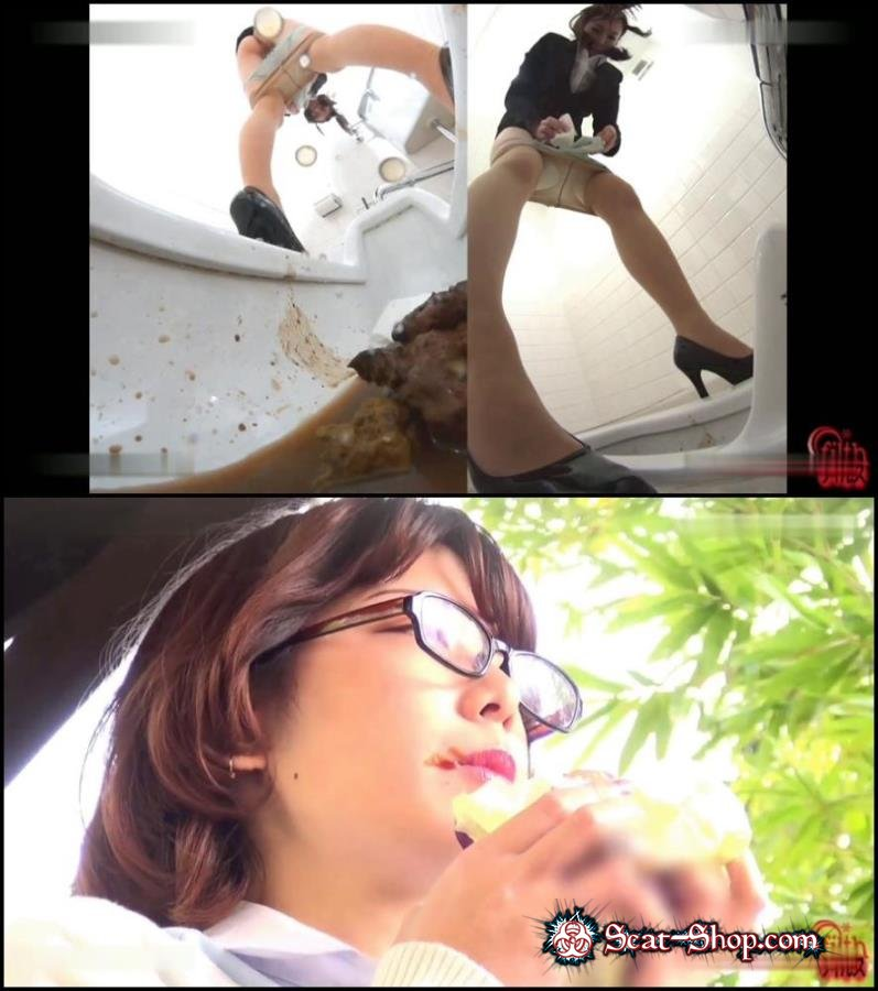 Pooping long turd in toilet after food. [859 MB] FullHD 1080p Jav Scat, Defecation