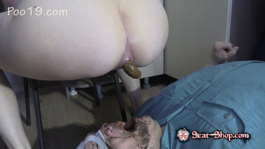MilanaSmelly - Lick my feet and swallow my shit [Scat Porn / 1.58 GB] FullHD 1080p (Femdom, Defecation)