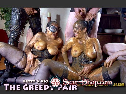 Betty, Violet, 3 males - THE GREEDY PAIR [Hightide-Video / 1.16 GB] HD 720p (Sex Scat, Blowjob)