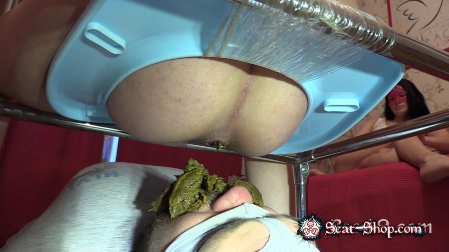 MilanaSmelly - Female farting's smell is my food's smell [Toilet Slavery / 1.33 GB] FullHD 720p (Domination, Scat)