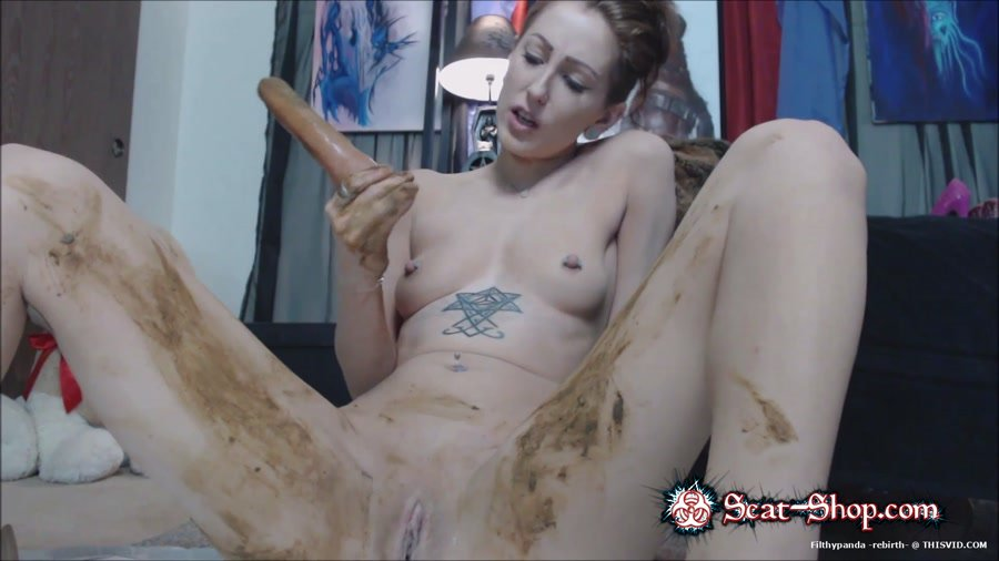 MoxiMinx - I puke, smear and eat shit for you [Dildo Scat / 469 MB] FullHD 1080p (Solo, Shit)