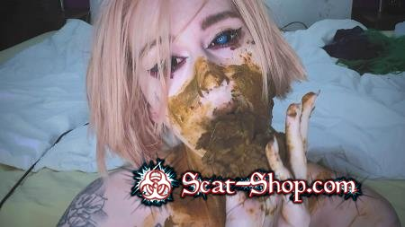 DirtyBetty - Shit obsessed girl made a mess [New scat / 1.41 GB] FullHD 1080p (Amateur, Domination)