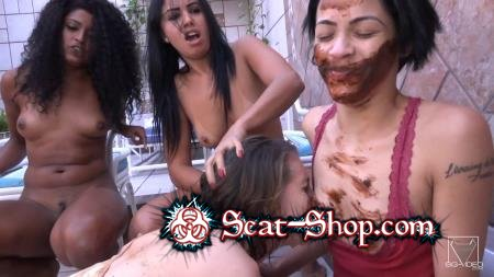 4 Girls - Extreme Scat Kisses Party [Brazil / 2.34 GB] FullHD 1080p (Femdom, Domination)
